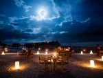 Moonlight Table for Two on a Beach