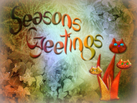 Seasons greetings cats animals background wallpapers on seasons greetings lovely vector arts plants animals fall season m4hsunfo