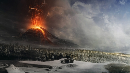 Volcano eruption - 2013, eruption, 21, 10, volcano, picture
