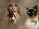 Beauty and Siamese Cat
