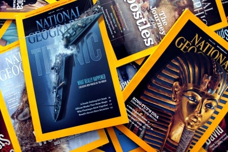 National Geographic - titanic, reading, national geographic, king tut, magazines