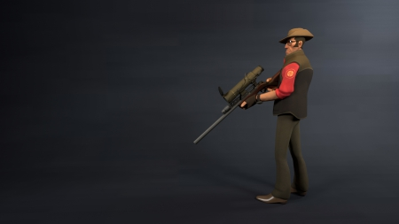 Team Fortress 2 Sniper - fortress 2 sniper character blender cycles render, blender, character, fortress, sniper, cycles, render, team, 2