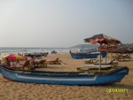 Fisher boats at the beach in Goa/India