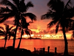 Fiji Sunset over Ocean