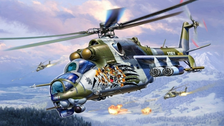 Fighting Tiger - fantasy, cgi, helicopter, military, tiger