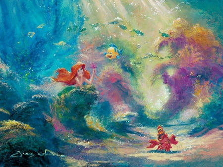 The Little Mermaid Movies Entertainment Background