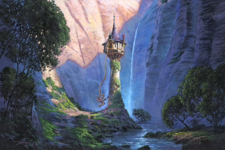 Tangled castle movies entertainment background wallpapers on desktop nexus image 1598876 - Tangled tower wallpaper ...