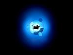 Blue Ubuntu Logo with Running Mouse