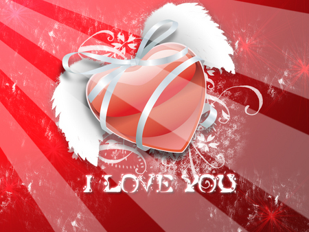 I Love You - Heart - valentines, valentine, red heard, i love you, valentines day, heart, red