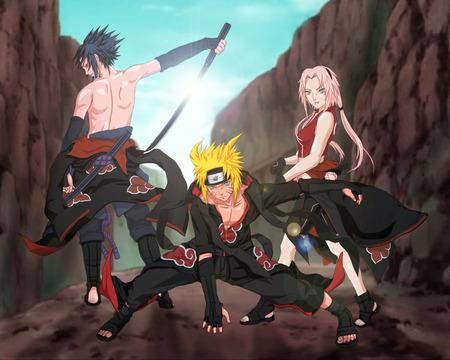 naruto - sasuke, sakura, anime, naruto