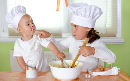 Cooks - photo, boy, girl, whote, cooks, cook, child