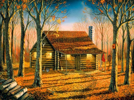 Woodland Cabin Other Amp Abstract Background Wallpapers On