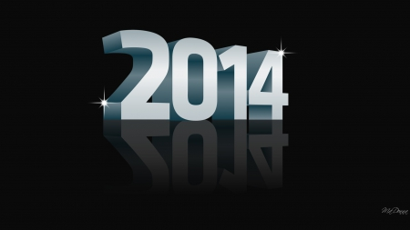 2014 Simple - New Years, 2014, simple, reflection, celebrate