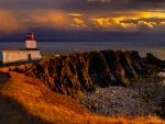 gorgeous cape d'or lighthouse in nova scotia hdr