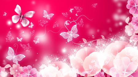 Bright and Pink - Flowers & Nature Background Wallpapers ...