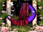 Purple Crescent Moon Garden