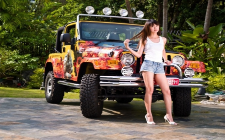 Want A Ride Girls And Cars Amp Cars Background Wallpapers