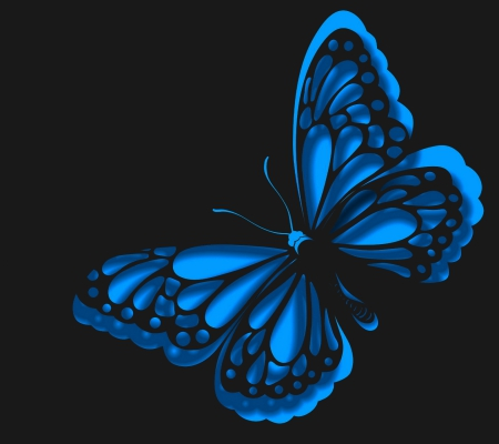 Blue Butterfly 3d And Cg Abstract Background Wallpapers