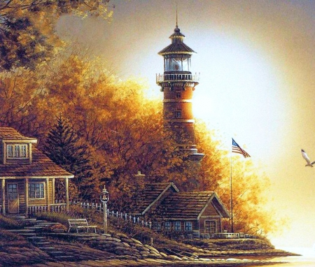 Peachy Lighthouse At Fall Other Abstract Background Wallpapers Download Free Architecture Designs Rallybritishbridgeorg