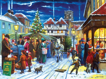 christmas market other amp abstract background wallpapers
