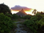 Sunset over Mount Otemanu Bora Bora