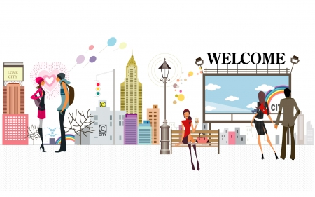 W e l c o m e ! - fantasy arts, cartoons, welcome, place, design, city, anime, fashion, vector