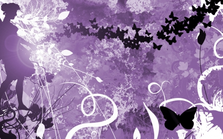 Purple Butterfly 3d And Cg Abstract Background Wallpapers On Desktop Nexus Image 1608179