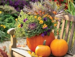 Thanksgiving garden decor