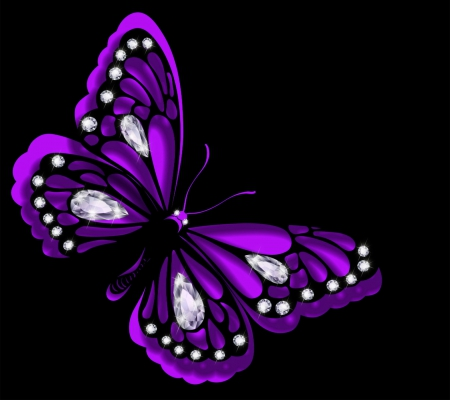 Purple Butterfly 3d And Cg Abstract Background Wallpapers On Desktop Nexus Image 1609074