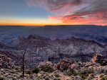 sunset over spectacular grand canyon