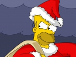 Homer Simpson as Bad Santa