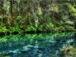 beautiful azure river hdr