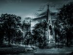 st marys sq church gloucester night