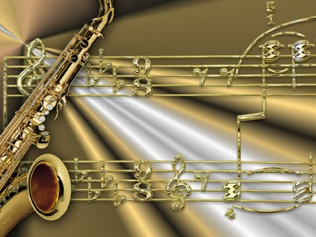 CLASSIC MUSIC NOTES - saxophone, music notes