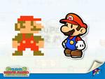 Super Paper Mario sprite Mario paper Mario