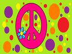 Peace Sign Flower Polka-Dot