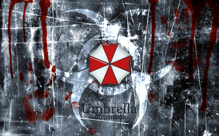 Residen Evil Umbrella Corporation - hand prints, zombie, residen evil, blood, undead, corporation, umbrella