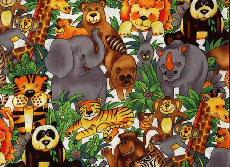 Zoo animals fantasy abstract background wallpapers on - Moving animal wallpapers ...