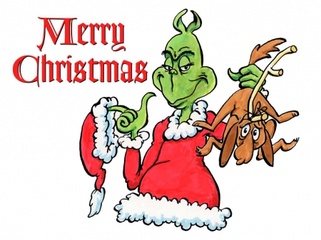 Merry Christmas from The Grinch - vmhenson, seuss, christmas, holiday, grinch, winter