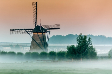 *** Mill in mistiness *** - fof, mill, nature, landscape, mist