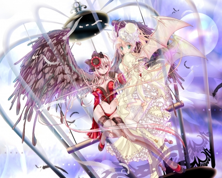 Sweet Angel Devil Other Anime Background Wallpapers On Desktop