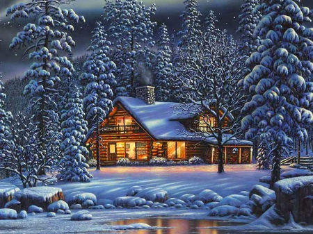 winter house other   abstract background wallpapers on