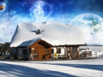 Fantasy Winter Cabin