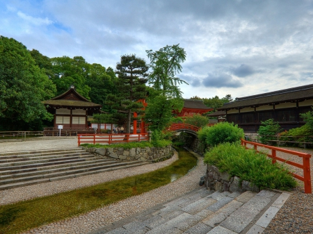 Temple Garden - japan, japanese, zen, temple, garden
