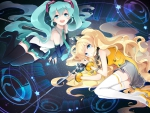 Hatsune miku and Seeu
