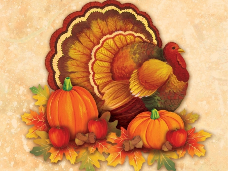 Thanksgiving turkey 3d and cg abstract background - Thanksgiving day wallpaper 3d ...