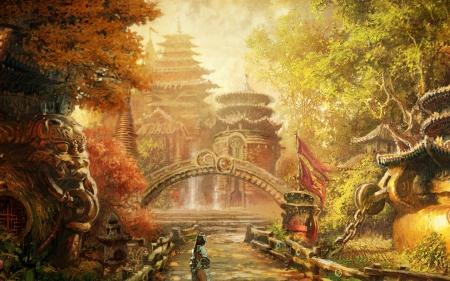 Asian Autumn Fantasy Amp Abstract Background Wallpapers On