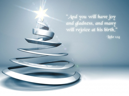 Christmas means Joy and Gladness!♥ - christmas tree, shining star, joy, silver, christmas time, gladness
