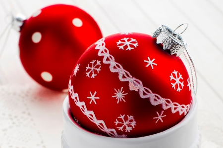 Christmas Balls - merry christmas, christmas, christmas balls, magic christmas, red balls, xmas