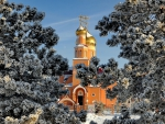 beautiful orthodox church in kazakhstan